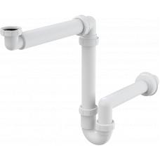 Сифон в мебель, Alcaplast A434, пластик, белый