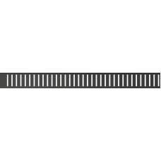 Перфорированная решетка 1450мм, для лотка Alcaplast PURE-1450BLACK, черная