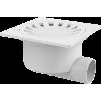 Душевой трап Alcaplast APV15, 150х150мм, для душа, пластик, белый