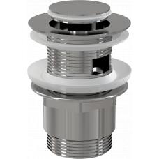 Донный клапан Alcaplast A39 для раковины с переливом, клик-клак