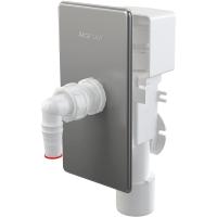 Сифон для стиральной машины, Alcaplast APS3P, накладка хром