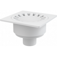 Душевой трап Alcaplast APV16, 150х150мм, пластик, белый, для безбарьерного доступа