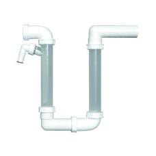 Сифон для кондиционера HL 136.2 горизонтальный с прозрачными патрубками в корзину