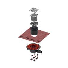 Трап TECE drainpoint S KDP-S110 h66мм комплект для душа, с решеткой