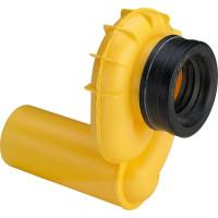 Сифон для писсуара, горизонтальный, Viega 492 465, вакуумный, желтый