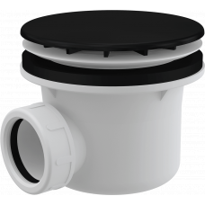 Сифон для поддона Alcaplast A49Black, черный-матовый в корзину, комплектующие