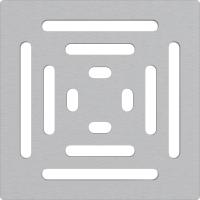 Решетка для трапа Alcaplast MPV012 из нержавеющей стали 102×102 мм