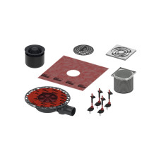 Трап TECE drainpoint S S KDP-S120 h98мм комплект для душа, с решеткой