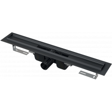 APZ101 BLACK-1050 Душевой лоток Алкапласт 1050мм, черный, горизонтальный сток   водоотводящий желоб