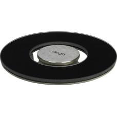 Viega Решетка AdvantixVisign RS15 617 189 круглая, стекло черное/сталь, дизайнерская