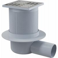 Душевой трап Alcaplast APV1 горизонтальный, для ванной комнаты, труба 50мм, фланец 160мм