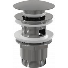 Донный клапан Alcaplast A390 для раковины с переливом, клик-клак