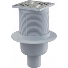 Трап для душа Alcaplast APV32 вертикальный, сухой затвор в корзину