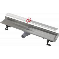 Душевой лоток в угол, длина 750мм, Alcaplast APZ23-DOUBLE9 сливные решетки (для плитки, сплошная, сталь) в комплекте, корпус из нержавеющей стали
