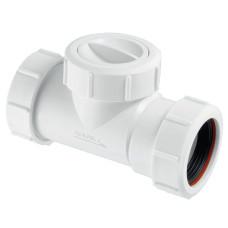 Обратный клапан McAlpine T28M-NRV-40 для установки на трубу 40мм канализационный обратный клапан для системы канализации, клапан для трубы