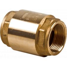 Клапан обратный NRV EF Danfoss 065B8227 пружинный, муфтовый, ДУ 32, 1 1/4, Kvs=18, латунь