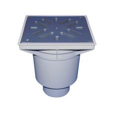 Трап уличный HL HL606L Perfekt DN110 вертикальный, с морозоустойчивым запахозапирающим затвором