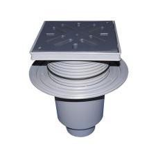 Трап уличный HL HL616L Perfekt DN110 вертикальный с обжимным фланцем, ПП с морозоустойчивой запахозапирающей заслонкой