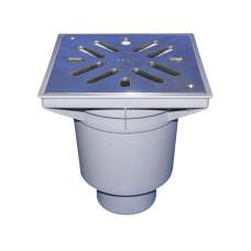Трап уличный HL HL606S Perfekt DN110 вертикальный, нержавеющая сталь с морозоустойчивым запахозапирающим затвором