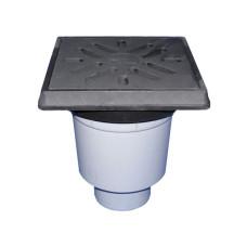 Трап уличный HL HL606.1 Perfekt DN110 вертикальный, чугун, с морозоустойчивым запахозапирающим устройством
