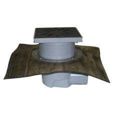 Трап уличный HL HL615H Perfekt DN110 с битумным полотном, чугун, с морозоустойчивой запахозапирающей заслонкой