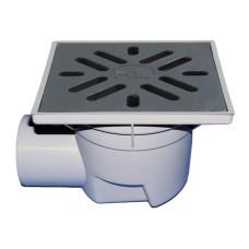 Трап уличный HL HL605 Perfekt DN110 горизонтальный, чугун, с морозоустойчивым запахозапирающим устройством