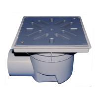 HL HL605L Уличный трап серии Perfekt DN110 горизонтальный 244х244мм/226х226мм ПП с морозоустойчивым запахозапирающим устройством