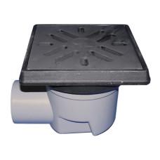 Трап уличный HL HL605.1 Perfekt DN110 горизонтальный, чугун, с морозоустойчивым запахозапирающим устройством