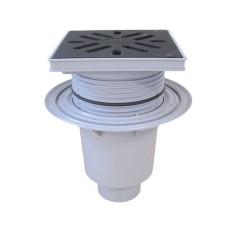 Трап уличный HL HL616 Perfekt DN110 вертикальный с обжимным фланцем, чугун с морозоустойчивой запахозапирающей заслонкой