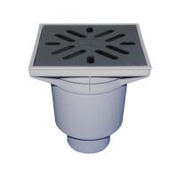 Трап уличный HL HL606 Perfekt DN110 вертикальный, чугун с морозоустойчивым запахозапирающим устройством